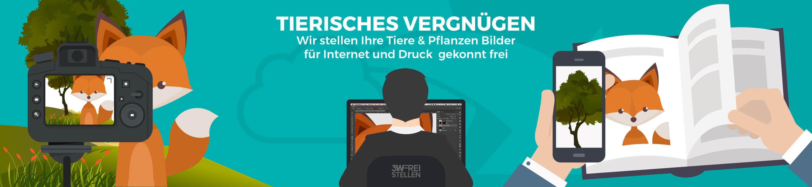 Vektorgrafik Tiere Tierisches Vergnügen Deutsch