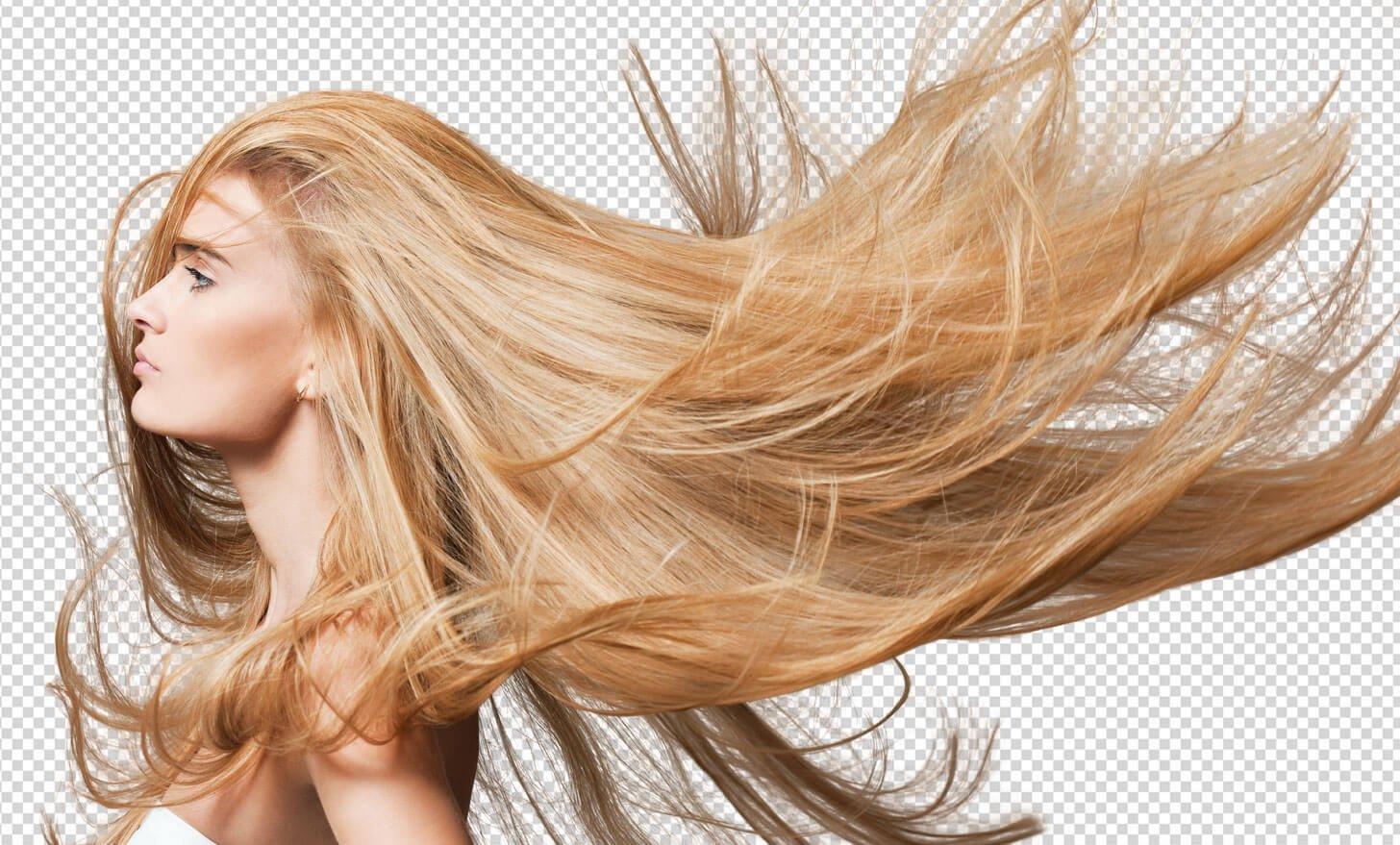 Freistellen Bildbearbeitung Person Haare