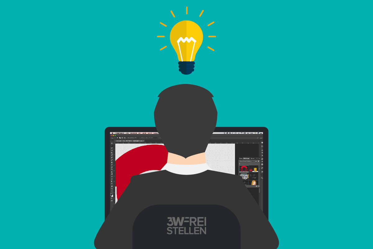 Arbeiter Photoshop Idee Leuchte