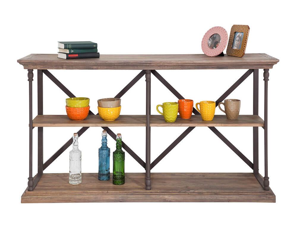 Freistellen Regal Gegenstände Bilderrahmen Tasse braun Holz