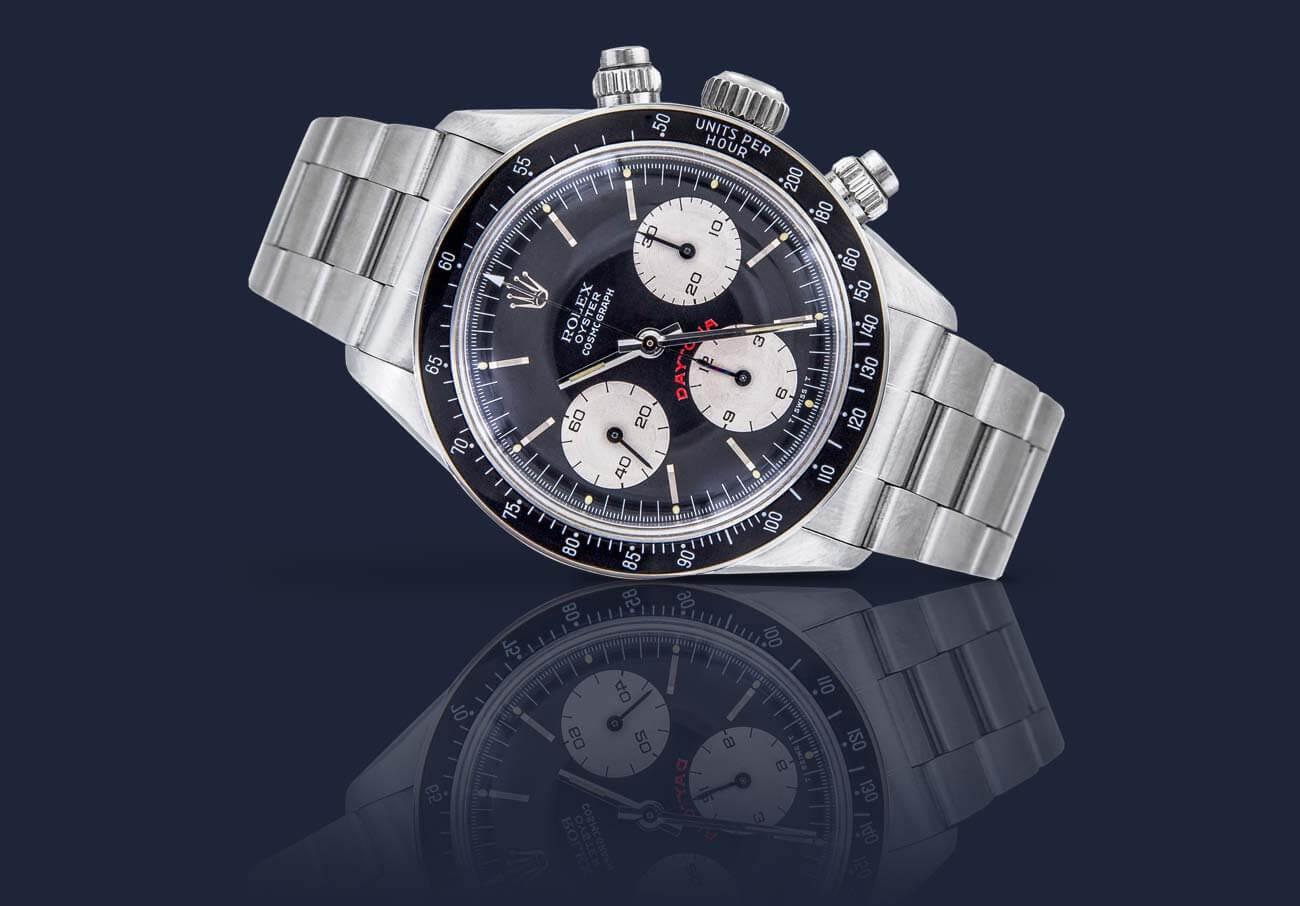 Uhren Schmuck Rolex Silber Bildbearbeitung blauer Hintergrund Spiegelung