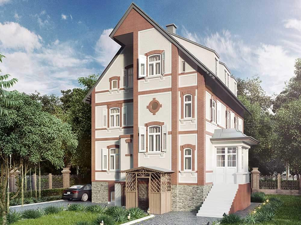 3D Visualisierung Haus Außenansicht Result