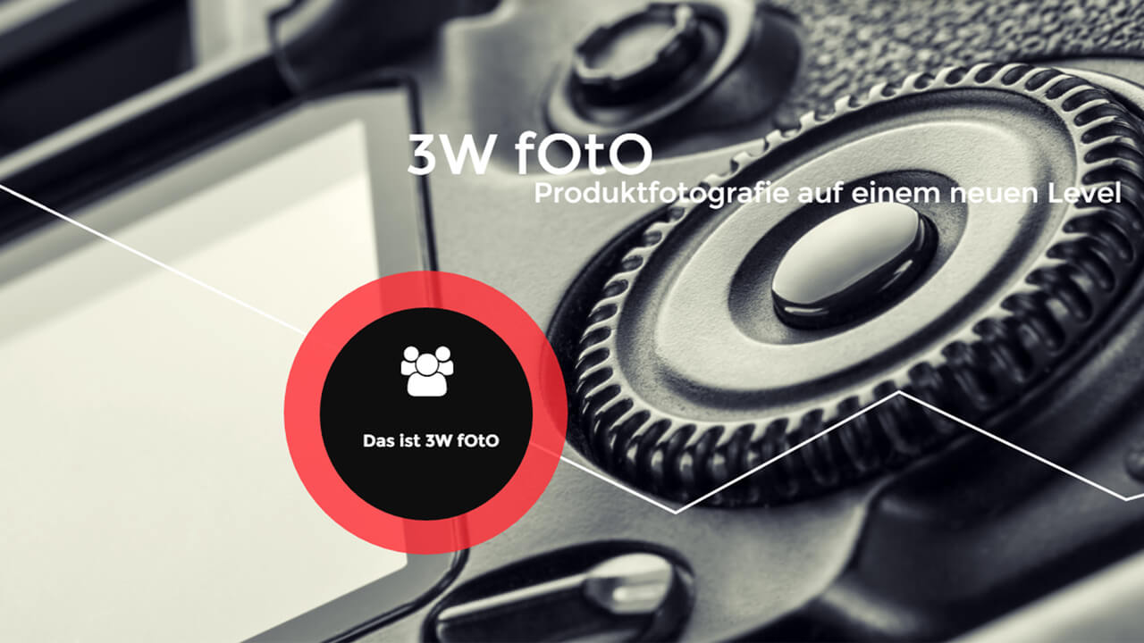 Freistellen Bildbearbeitung Produktfotografie Kamera 3W Foto