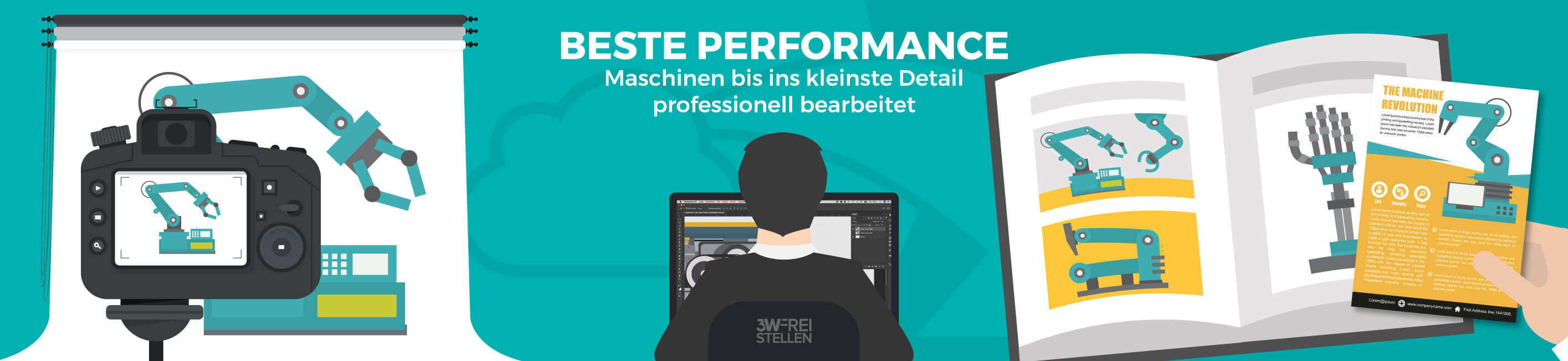 Vektorgrafik Maschinen Beste Performance Deutsch