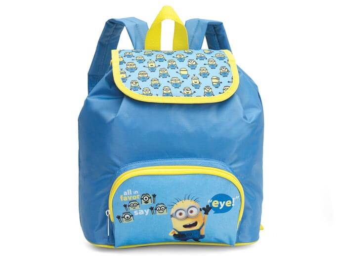 Freistellen Rucksack blau Minions Produktfoto