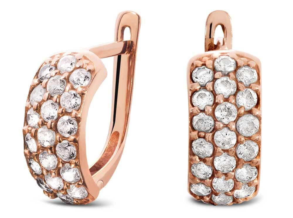 ohrringe freistellen schatten Rosegold Diamenten