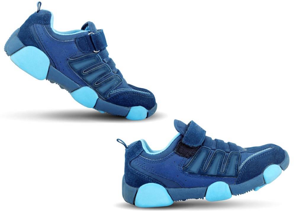 Schuhe laufen blau Klettverschluss