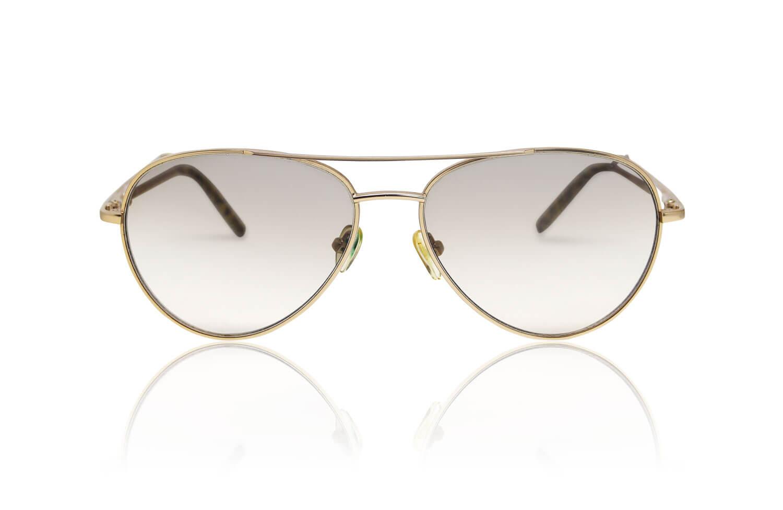 Freistellen Brillen Sonnenbrille gold Spiegeleffekt