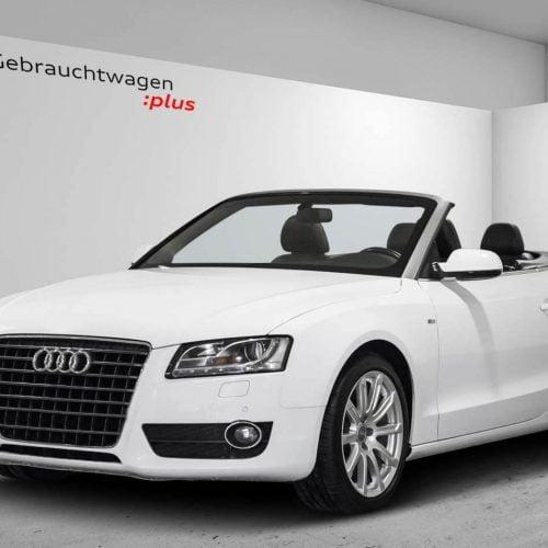 weißer Audi Bild bearbeitet