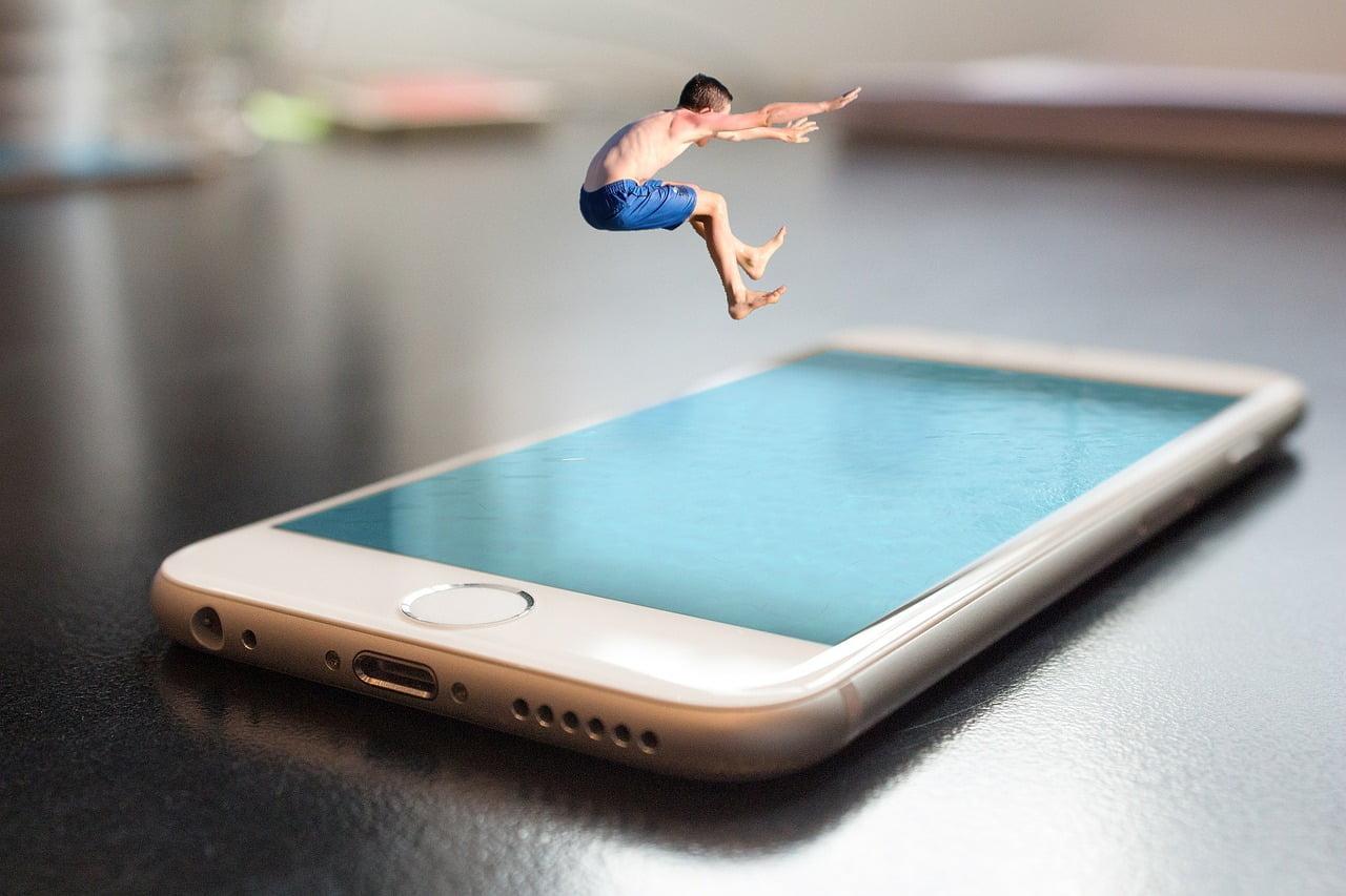 smartphone jump