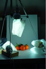 Fototisch mit Orangen