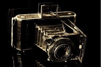 Produktfoto in Sepia Kamera